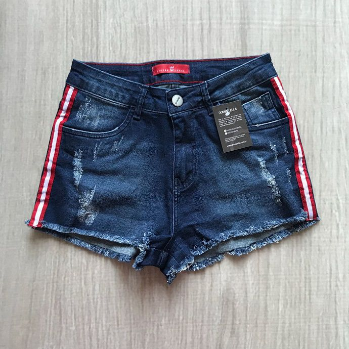 Shorts Jeans Listra Lateral