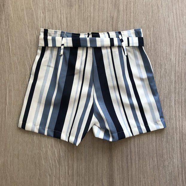 Shorts Listras Marinho