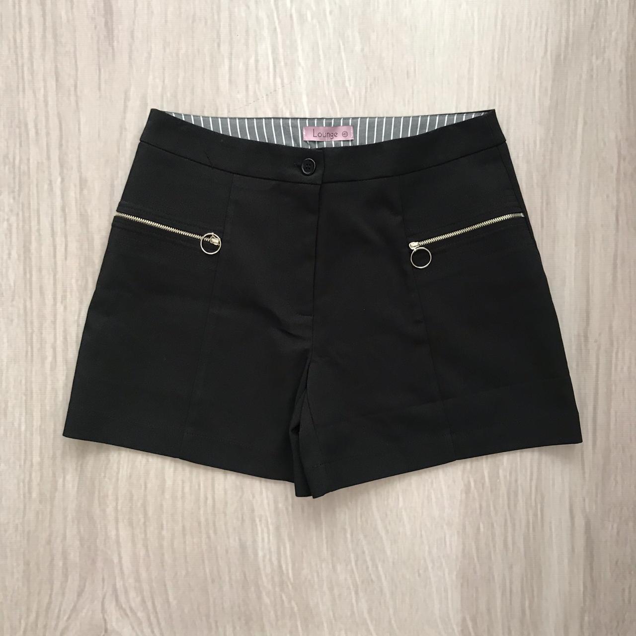 Shorts Preto Com Zíper