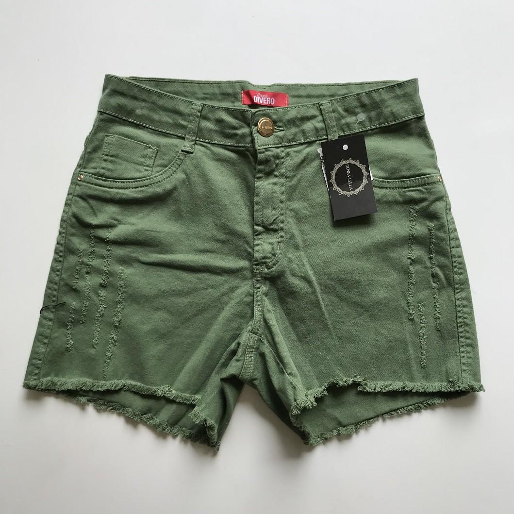 Shorts Sarja Barra Desfiada