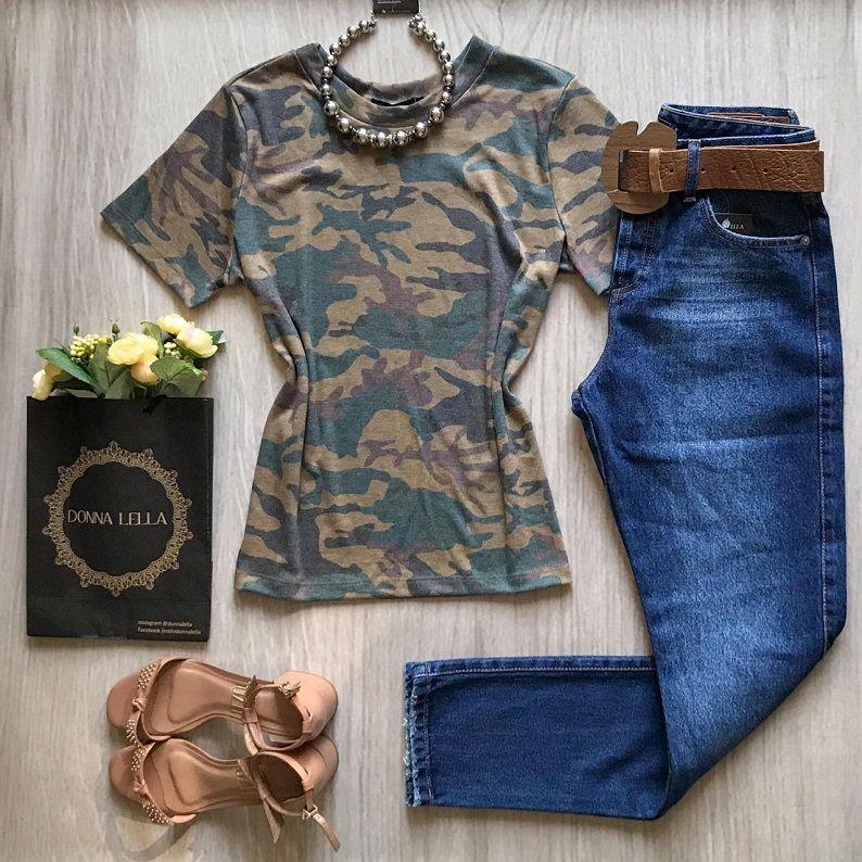 Tshirt Estampa Camuflada