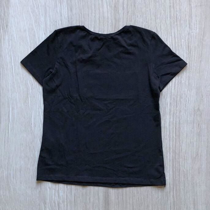 Tshirt Preta Aplique