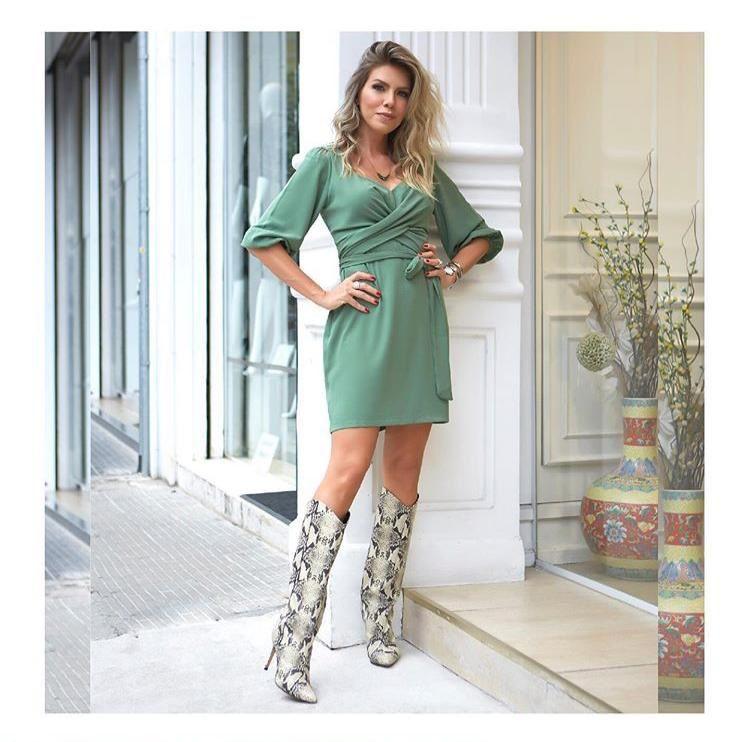 Vestido Amarração Verde