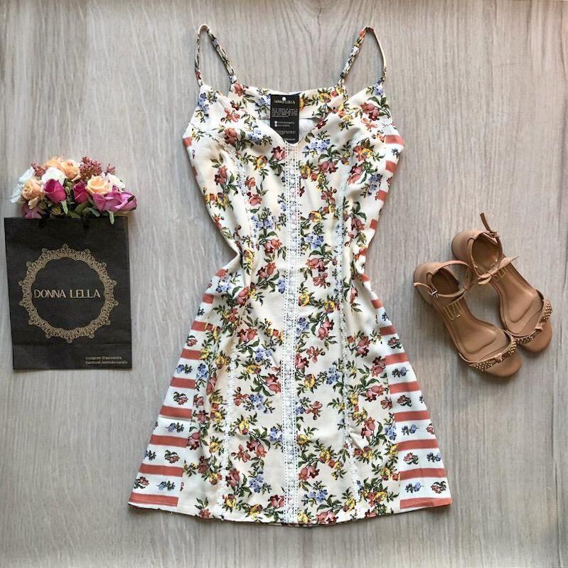 Vestido Composê Floral