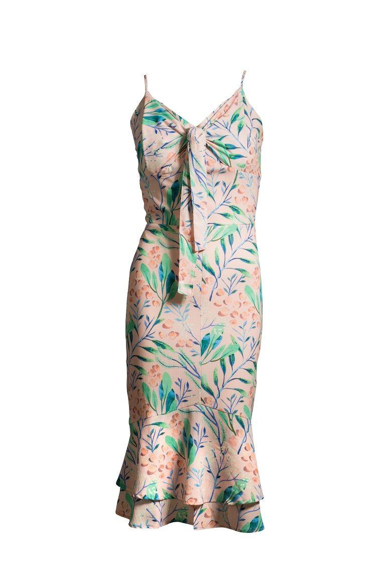 Vestido Crepe Midi