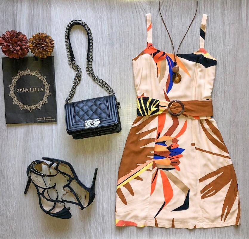 Vestido Estampa Folhagem