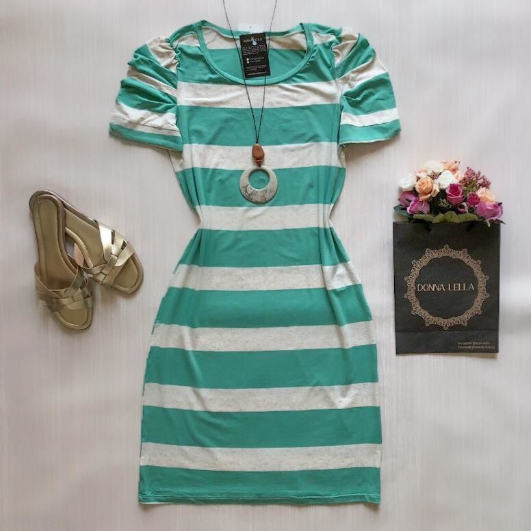 Vestido Listrado Verde