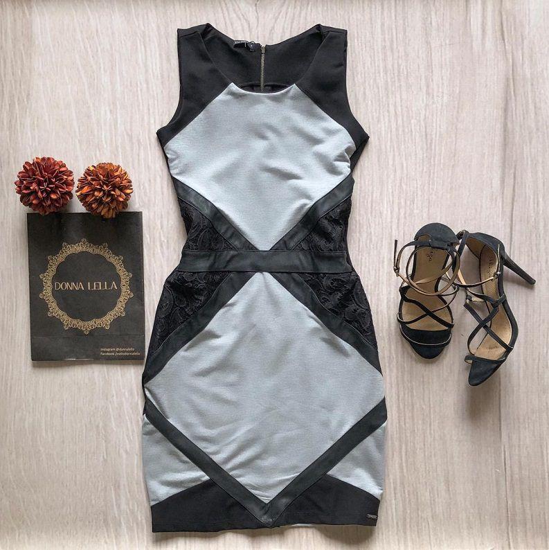 Vestido Mescla Recortes