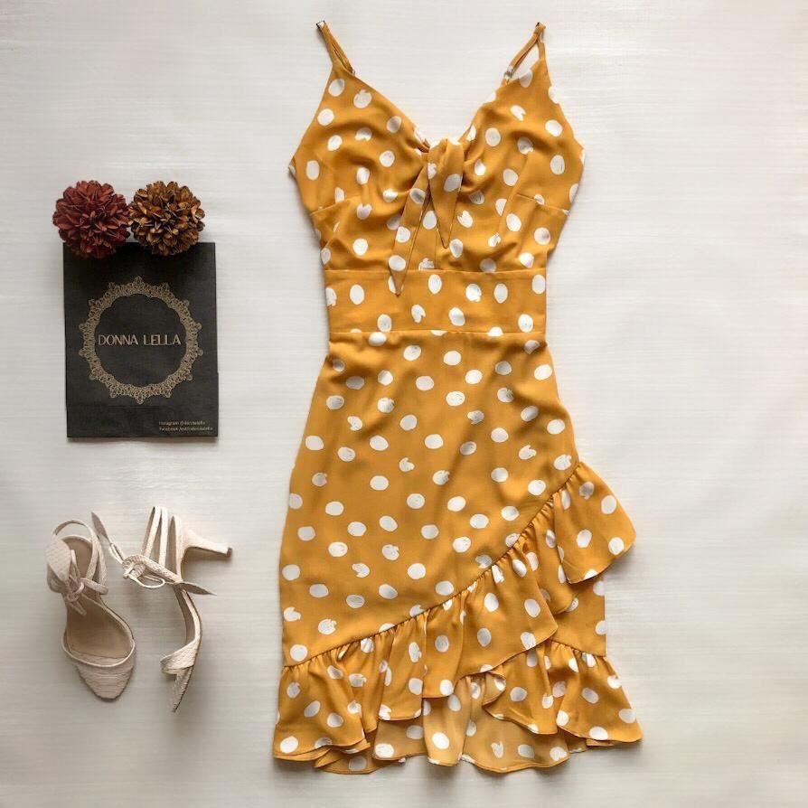 Vestido Midi Poá