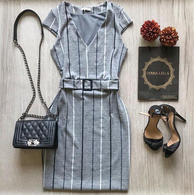 Vestido Xadrez Cinza