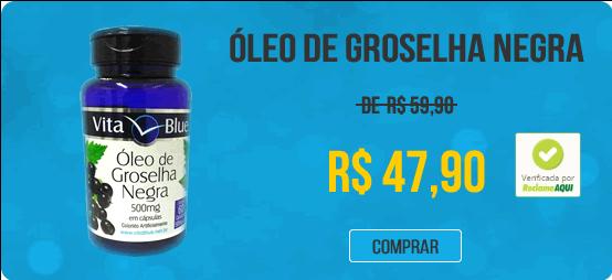 OLEO DE GROSELHA NEGRA 500 MG PURÍSSIMO 60 CAPS - VITA BLUE