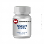 - Magnésio Glicina 200mg Manipulado 140 Cápsulas