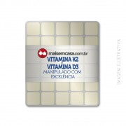 Vitamina K2 100mcg + Vitamina D3 2.000 UI - 90 Tabletes Sublinguais