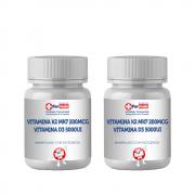 Vitamina K2 Mk7 200mcg + Vitamina D3 5000ui 2 Potes C/120cp