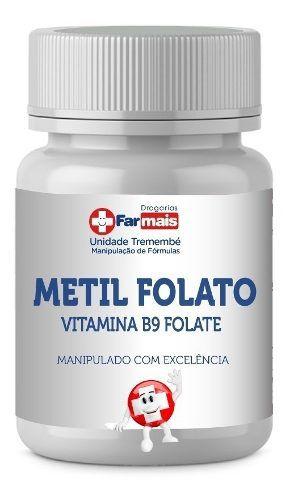 Metil Folato 1000mcg 5-mthf Forma Ativa 30 Caps
