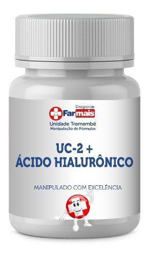 UC II 40MG UC 2 COLÁGENO TIPO 2 + ÁCIDO HIALURÔNICO 50MG 60 CÁPSULAS