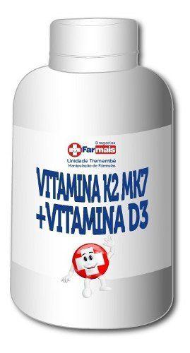 Vitamina K2 Mk7 200mcg + Vitamina D3 5000ui 4 Potes C/120cp