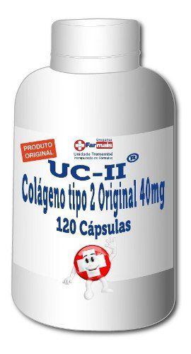 Uc-2 Colágeno Tipo 2 40mg + Vit C 500 Mg 120 Cp Autêntico