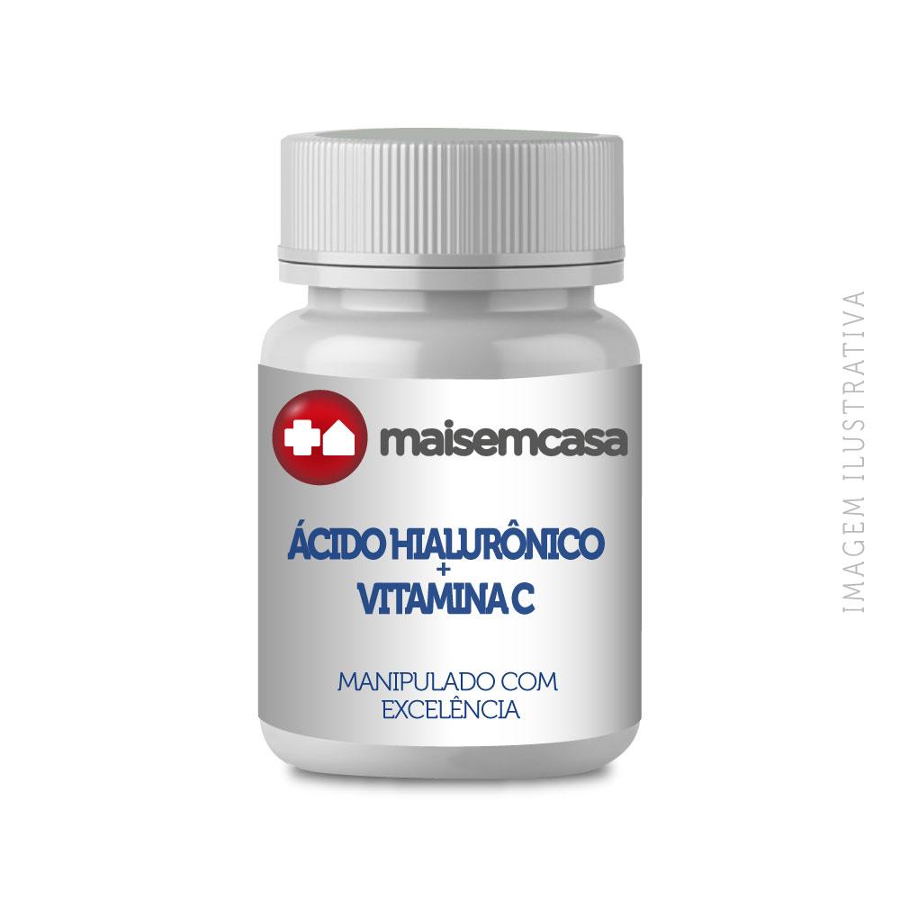 Ácido Hialurônico 100mg + Vitamina C 1 Gr 120 Doses