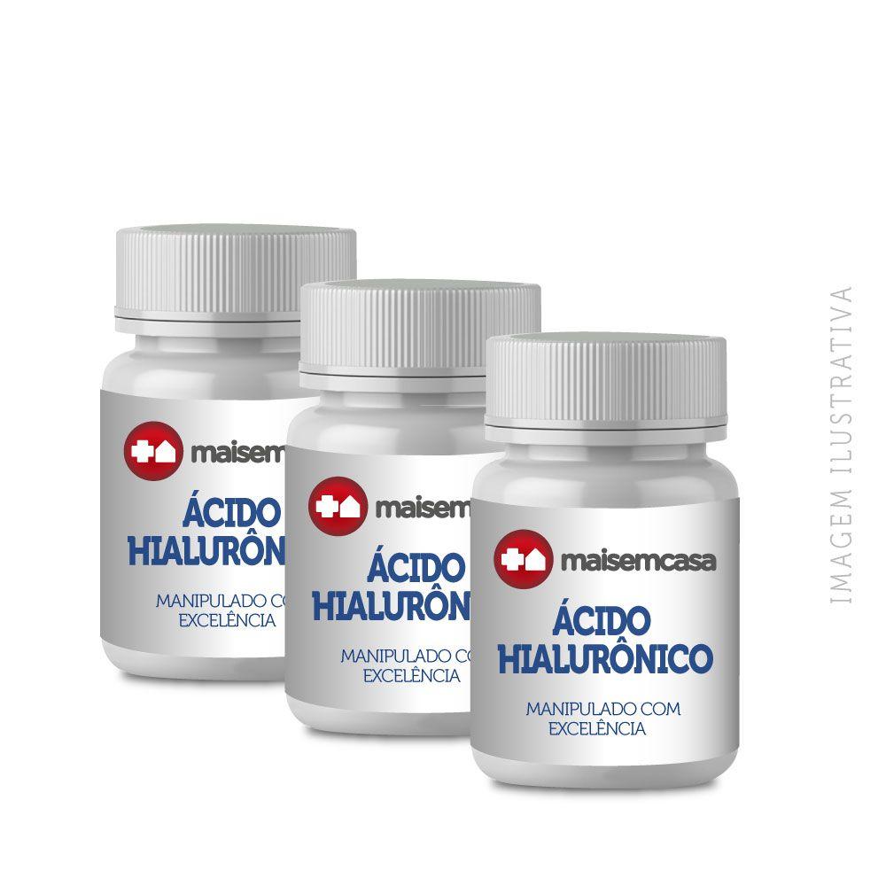 ÁCIDO HIALURÔNICO 50mg (3 Und) Com 60 Caps