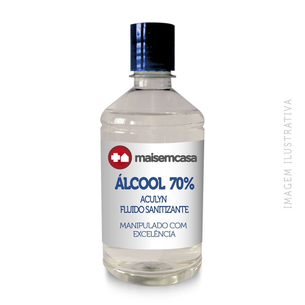 Álcool 70% Aculyn Fluido Sanitizante 500 ml