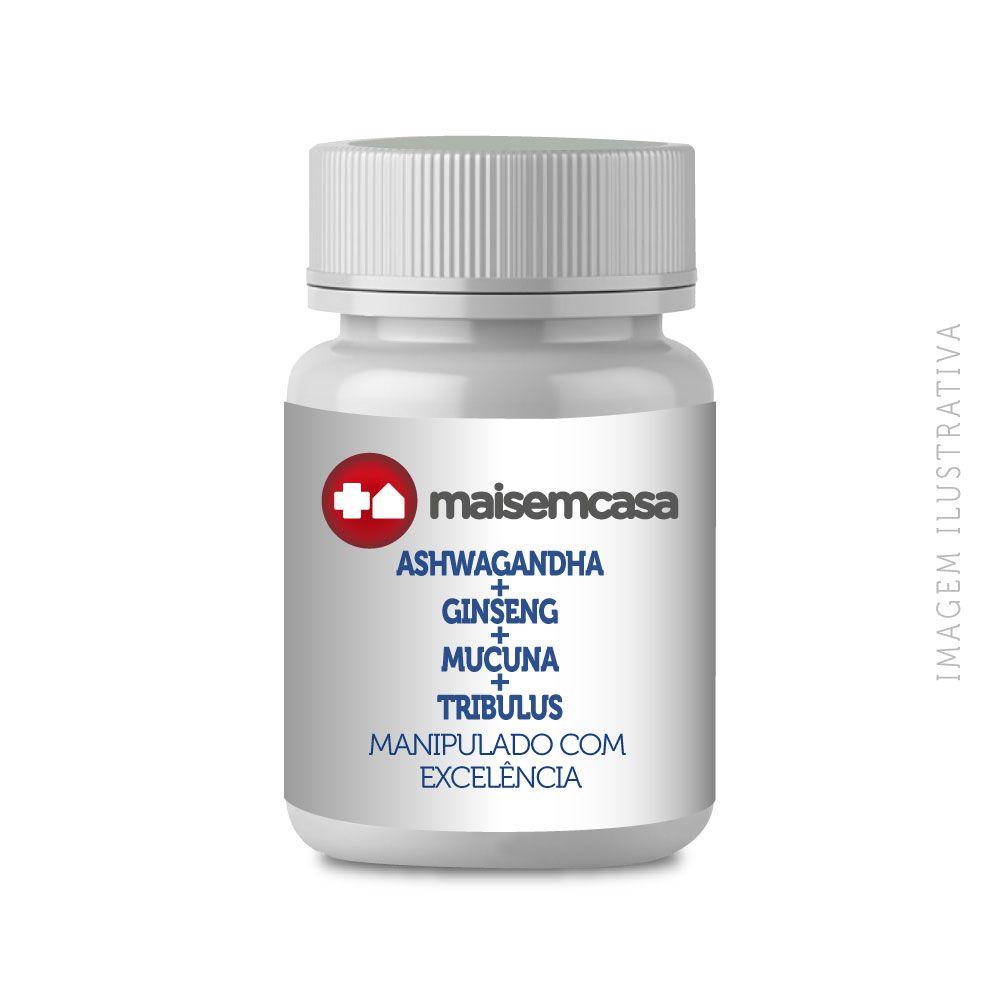ASHWAGANDHA + GINSENG + MUCUNA + TRIBULUS CÁPSULAS ESTIMULANTE MASCULINO