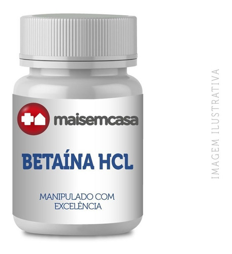 Betaína Hcl 300mg + Pepsina 40mg Pote 90 Cápsulas