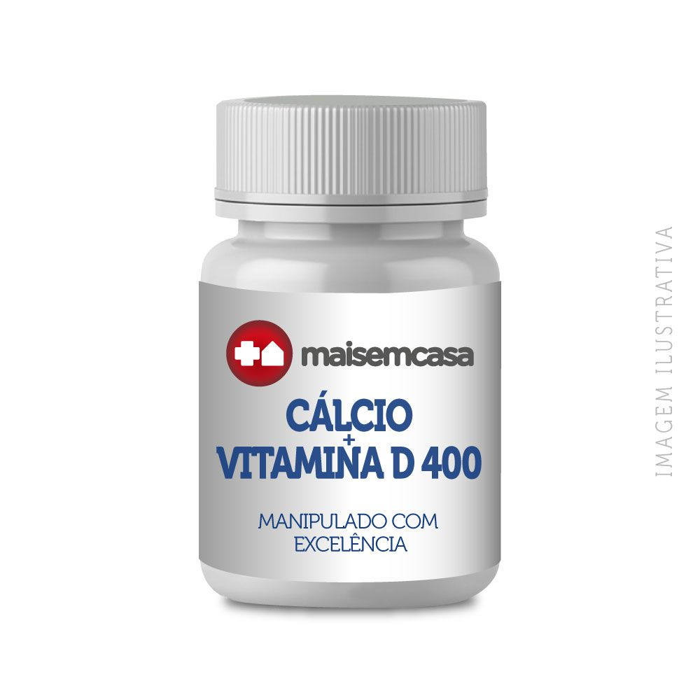 CÁLCIO + VITAMINA D 400 C/ 60 CÁPSULAS