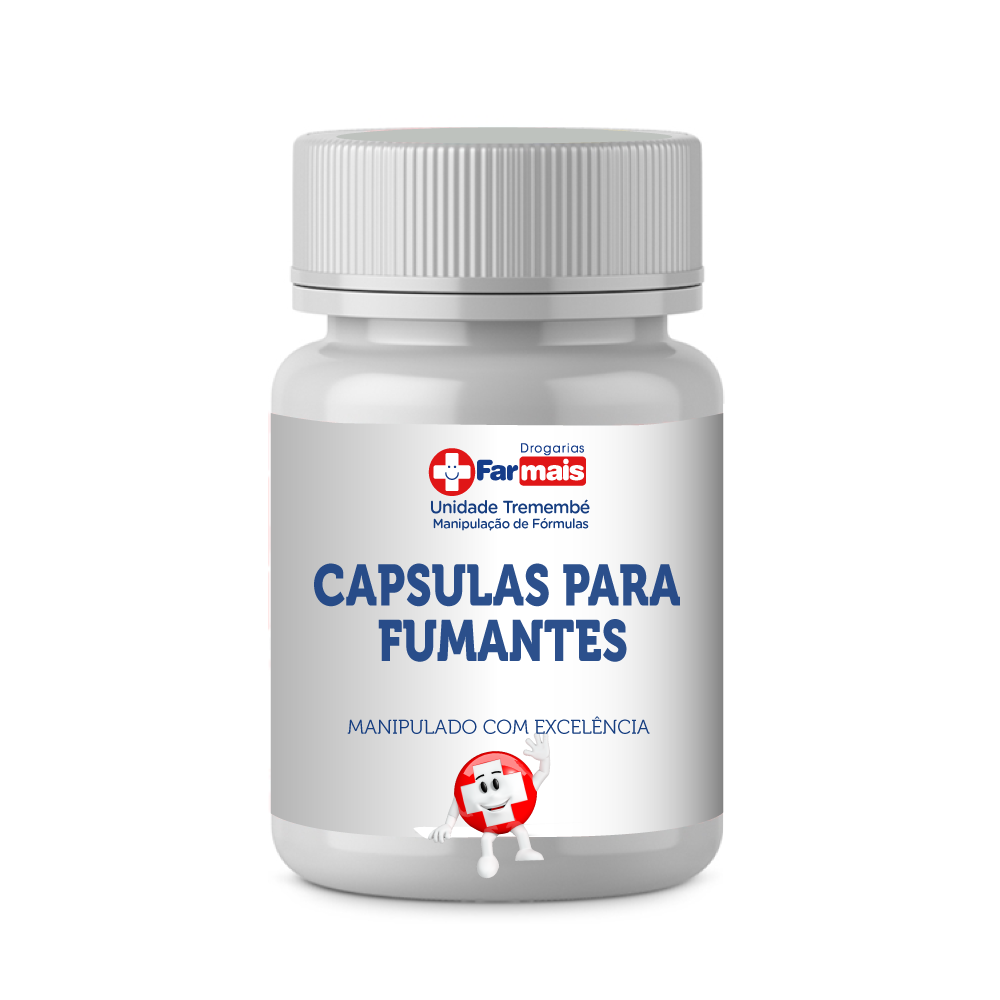 CÁPSULAS PARA FUMANTES C/60 CPS - DIMINUE OS EFEITOS DO CIGARRO