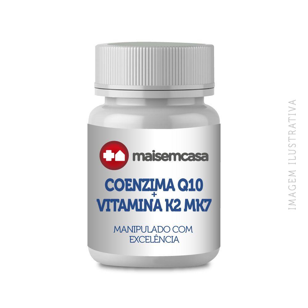 COENZIMA Q10 100MG + VITAMINA K2 Mk7 120MCG, com 120 cápsulas