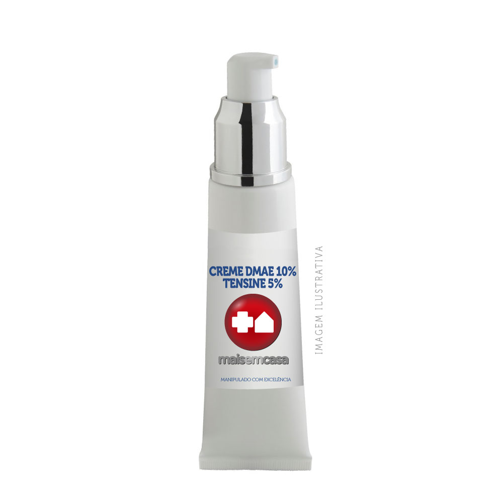 Creme Dmae 10% + Tensine 5% (hidratante Anti-rugas) 60gr