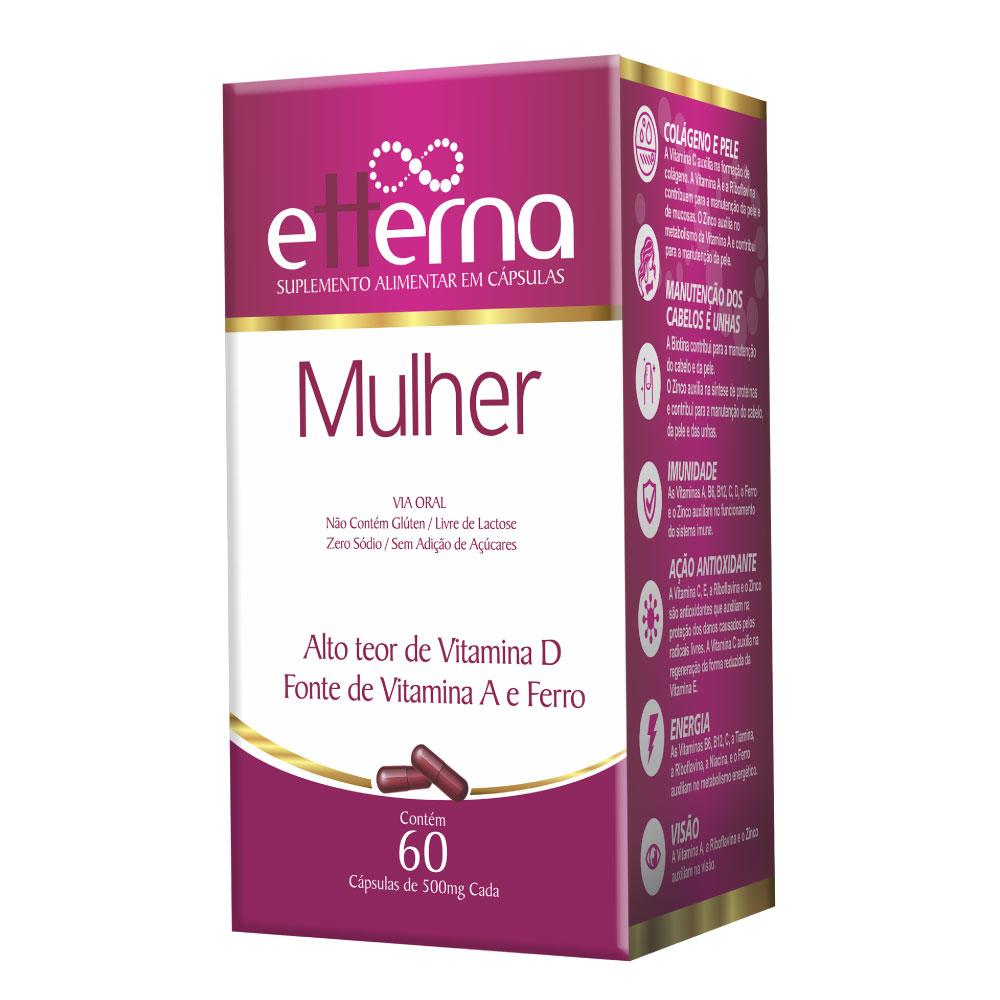 ETTERNA MULHER SUPLEMENTO ALIMENTAR VITAMINAS D, A E FERRO