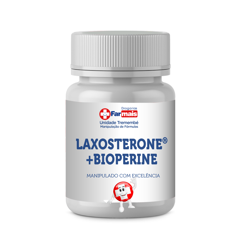 Laxosterone 50mg (anabólico natural) + Bioperine 5mg