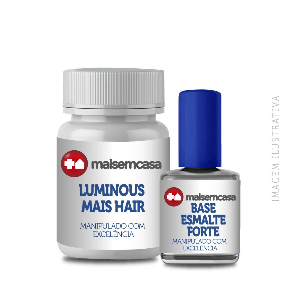 Luminous Mais Hair manipulado 120 cápsulas + Base esmalte forte