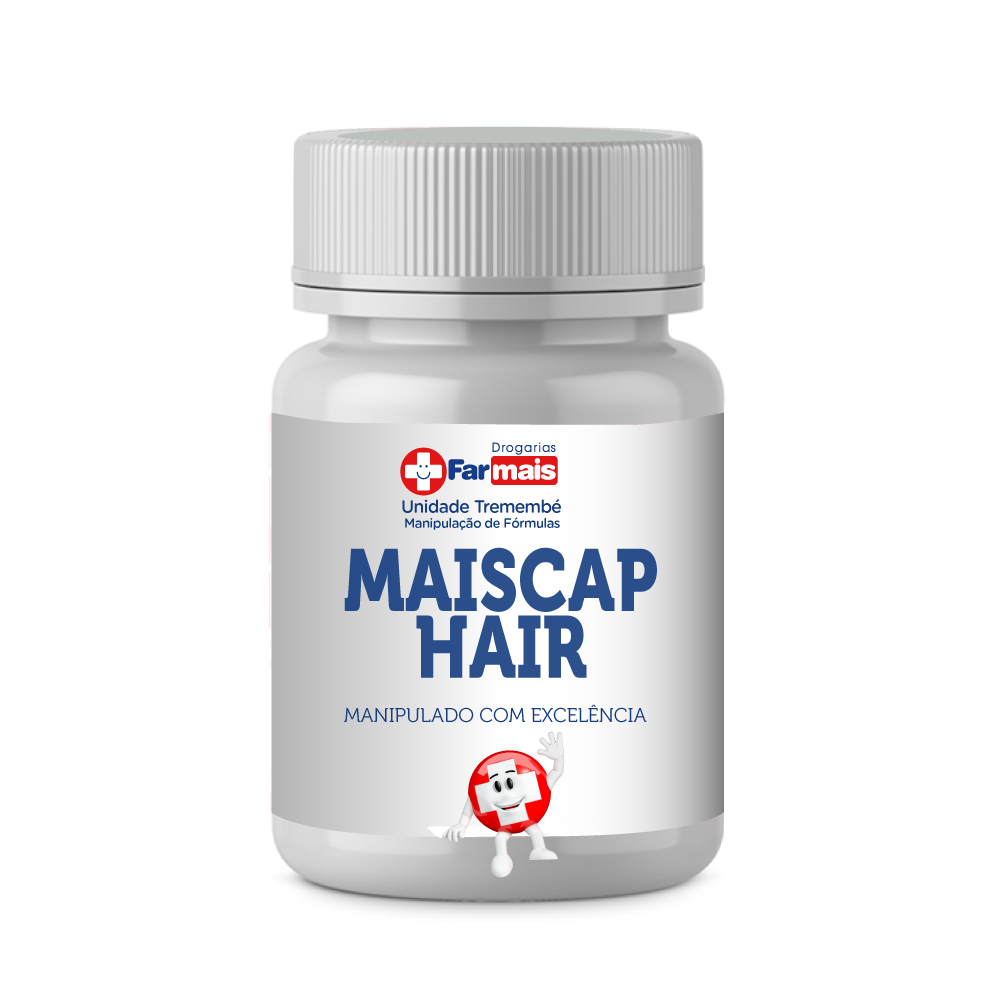 MAISCAP HAIR 60 CÁPSULAS MANIPULADO + BRINDE + FRETE