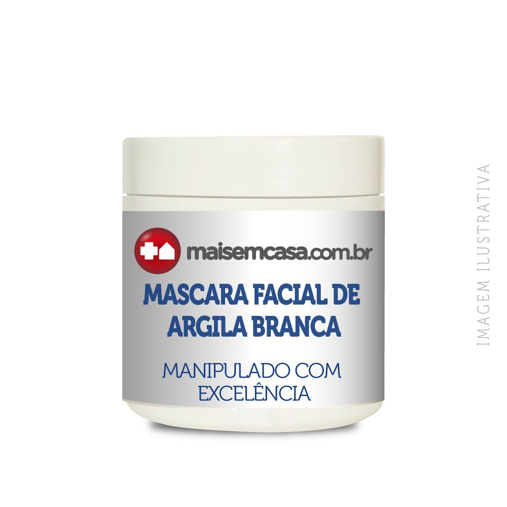 Mascara facial de argila branca (hidratante, nutritiva e esfoliante)