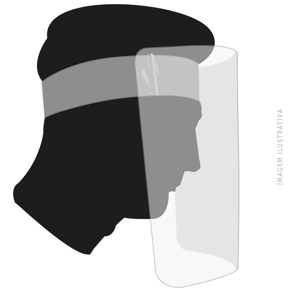 Máscara Lavável - Protetor Facial Transparente Face Shield