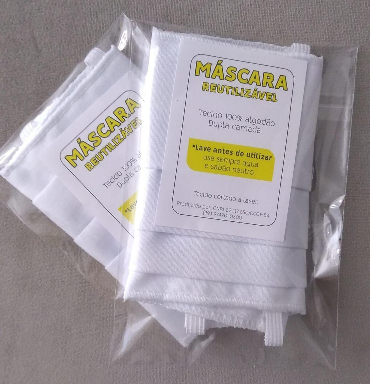 Máscara Lavável Reutilizável Algodão 100% Dupla Camada