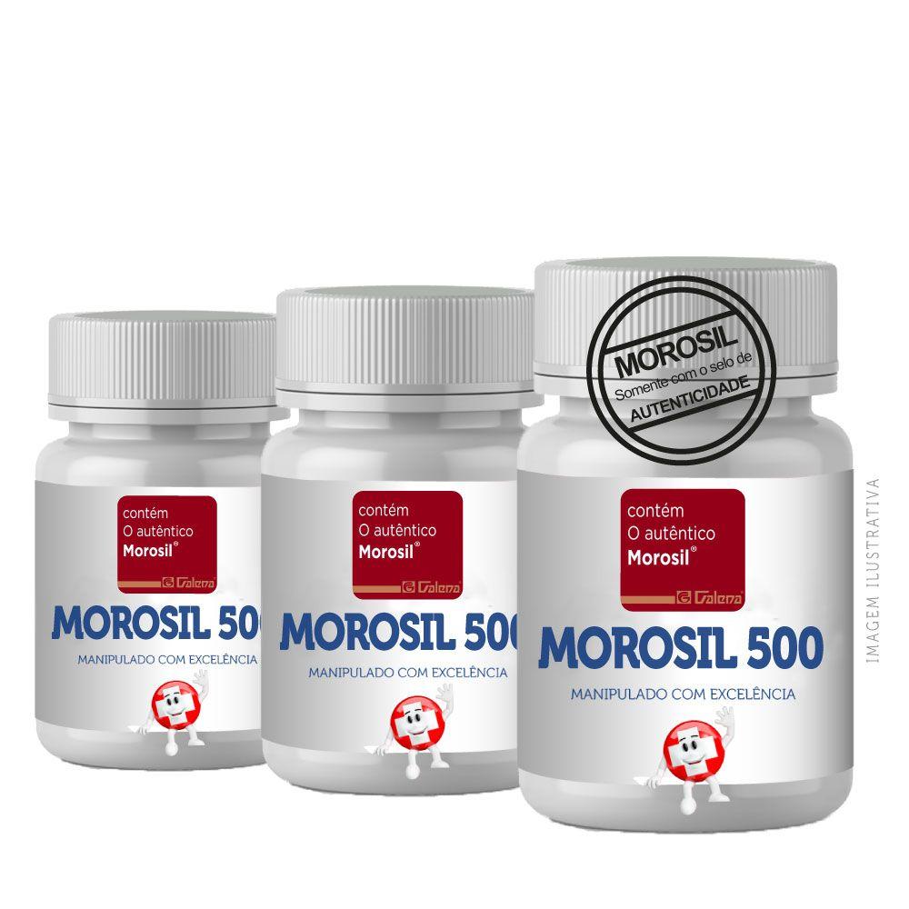 Morosil 500 MG 90 Cp 3 Potes (180 CP) - Auxilina na Gordura Abdominal