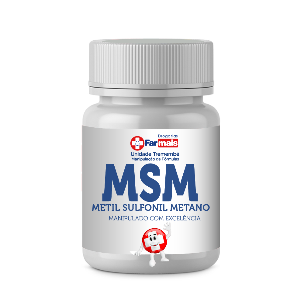 MSM  - METIL SULFONIL METANO - ENXOFE  400 Mg