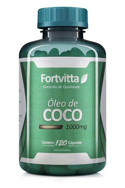 Óleo de coco 120 cápsulas 1000mg