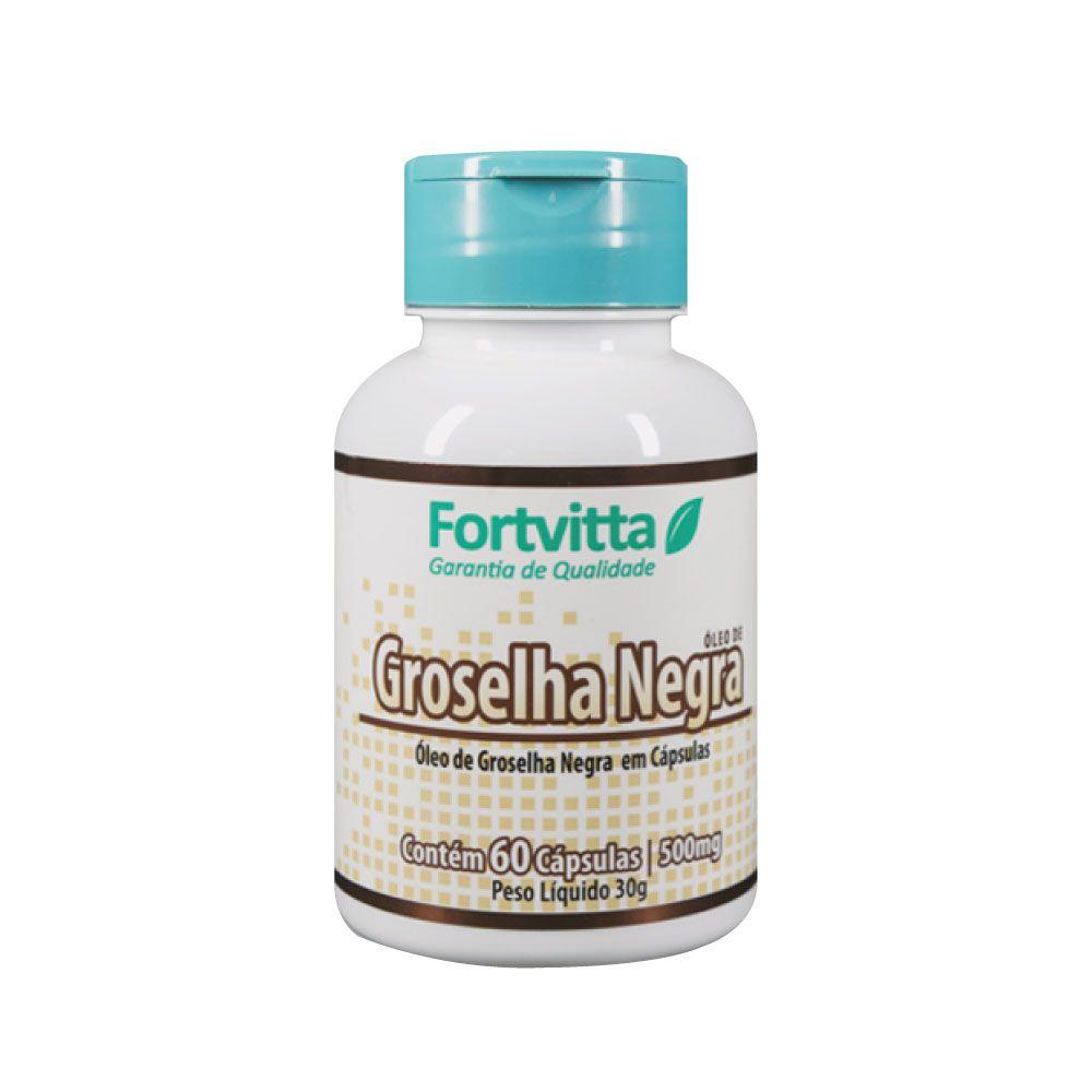 Óleo de groselha negra 500mg 60 cápsulas - Fortvitta