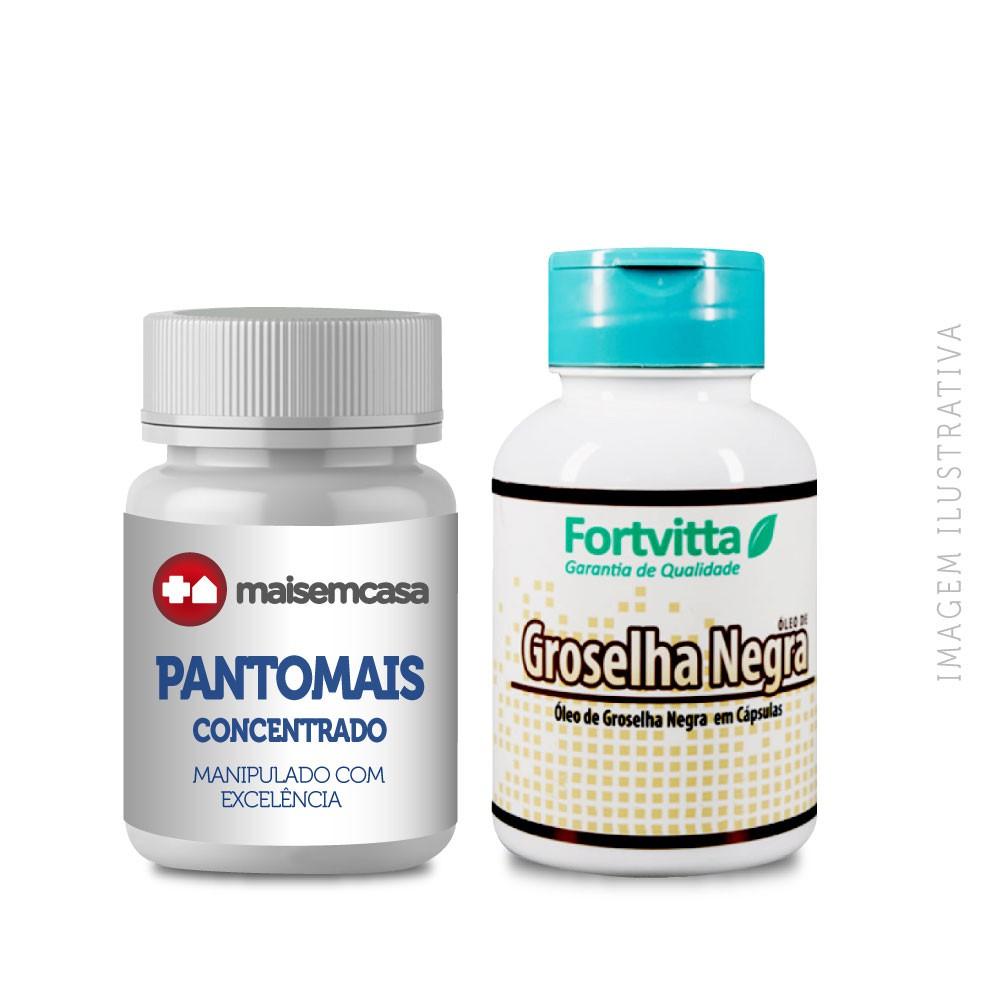 PANTOMAIS FÓRMULA CONCENTRADA COM 90 CÁPSULAS + GROSELHA NEGRA 500MG COM 60 CÁPSULAS