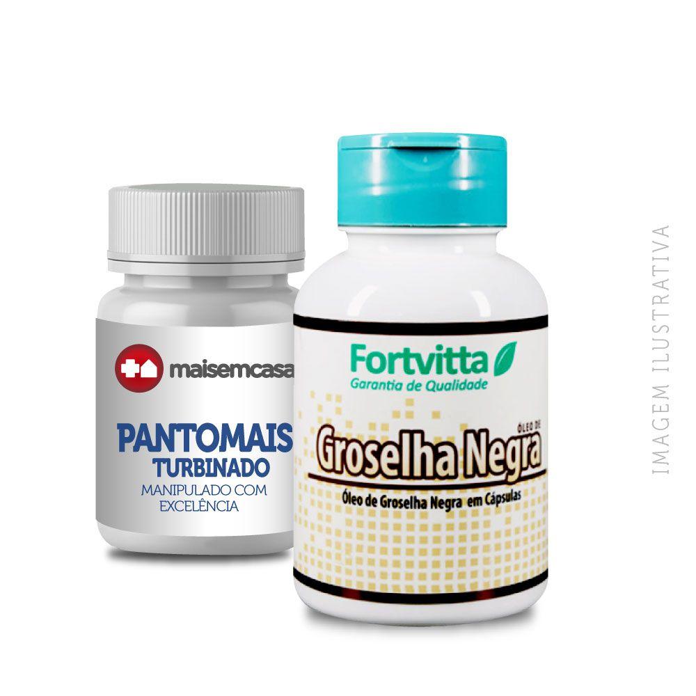 PANTOMAIS TURBINADO 90 CP + GROSELHA NEGRA 500MG 240 CP