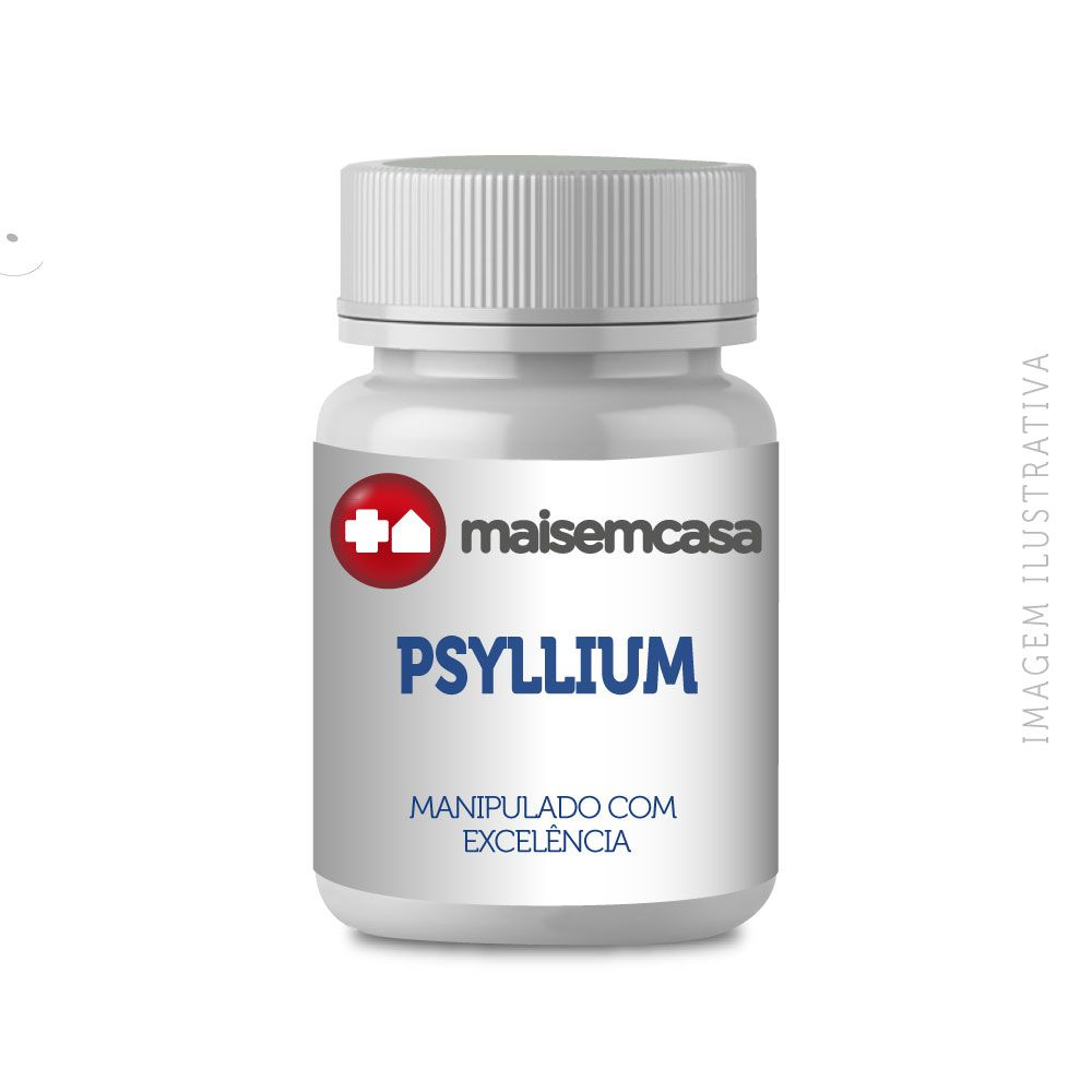 PSYLLIUM 500MG - REGULADOR INTESTINAL COM 60 CÁPSULAS