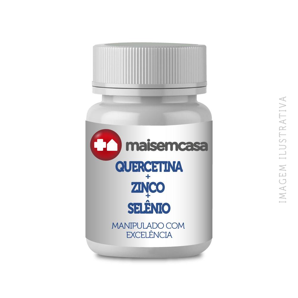 Quercetina 500mg+zinco 50mg+selênio 200mcg 120 Cps Veganas