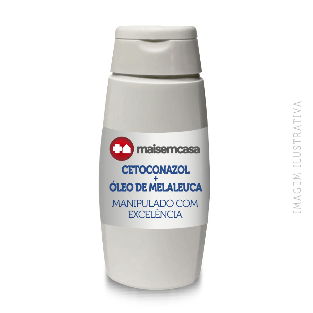 Shampoo Cetoconazol + Óleo De Melaleuca 120ml