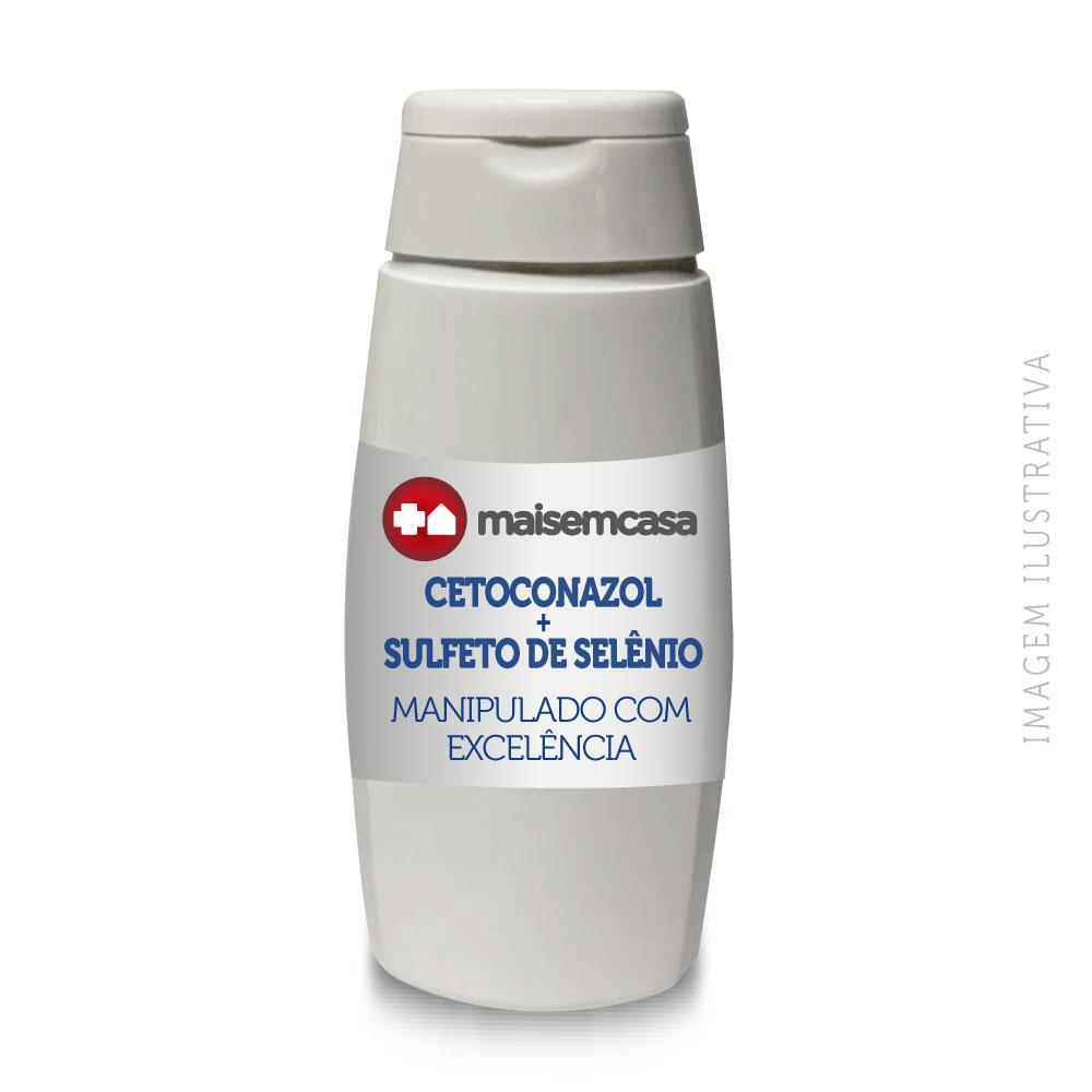 Shampoo Cetoconazol + Sulfeto De Selênio 120ml