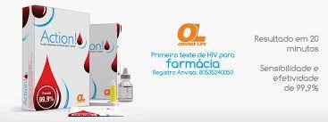 TESTE RÁPIDO DE HIV ACTION - ORANGELIFE