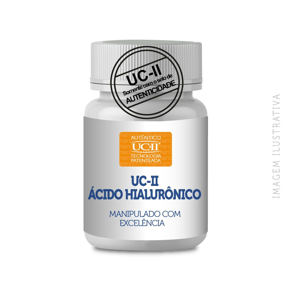 UC II 40MG UC 2 COLÁGENO TIPO 2 + ÁCIDO HIALURÔNICO 50MG 60 CÁPSULAS - COM SELO DE AUTENTICIDADE